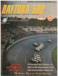 "Canvas 22"" x 30"" 6th Annual 1964 Daytona 500 Program Print - Mounted Memories"