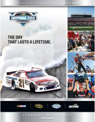 54th Annual 2012 Daytona 500 Canvas 22 x 30 Program Print - Mounted Memories