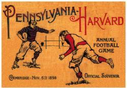 1898 Harvard Crimson vs Penn Quakers 22x30 Canvas Historic Football Poster