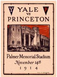 1914 Princeton Tiger vs Yale Bulldogs 22x30 Canvas Historic Football Program
