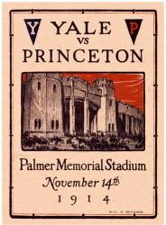 1914 Princeton Tiger vs Yale Bulldogs 22x30 Canvas Historic Football Program