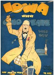 1923 Ohio State Buckeyes vs Iowa Hawkeyes 22x30 Canvas Historic Football Poster