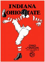 1924 Ohio State Buckeyes vs Indiana Hoosiers 22x30 Canvas Historic Football Print