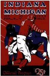 1925 Michigan Wolverines vs Indiana Hoosiers 22x30 Canvas Historic Football Print