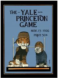 1926 Princeton Tiger vs Yale Bulldogs 22x30 Canvas Historic Football Program