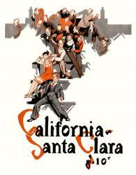 1927 California Bears vs Santa Clara Broncos 22x30 Canvas Historic Football Print
