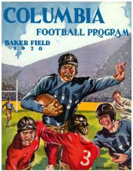 1928 Columbia Lions Season Cover 22x30 Canvas Historic Football Poster - Mounted Memories