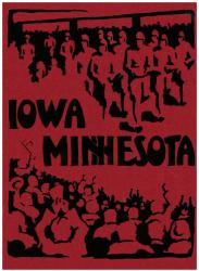 1928 Iowa Hawkeyes vs Minnesota Golden Gophers 22x30 Canvas Historic Football Poster