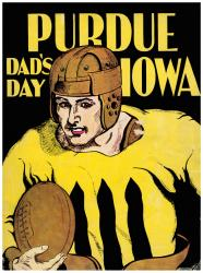 1930 Iowa Hawkeyes vs Purdue Boilermakers 22x30 Canvas Historic Football Poster