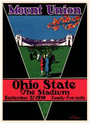 1930 Ohio State Buckeyes 22x30 Canvas Historic Football Program