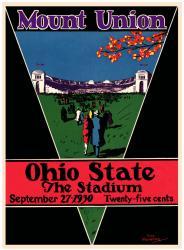 1930 Ohio State Buckeyes 22x30 Canvas Historic Football Program