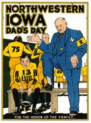 1931 Iowa Hawkeyes vs Northwestern Wildcats 22x30 Canvas Historic Football Poster