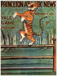 1932 Princeton Tiger vs Yale Bulldogs 22x30 Canvas Historic Football Program