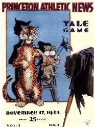 1934 Princeton Tigers vs Yale Bulldogs 22x30 Canvas Historic Football Program