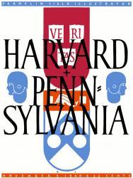 1940 Penn Quakers vs Harvard Crimson 22x30 Canvas Historic Football Poster