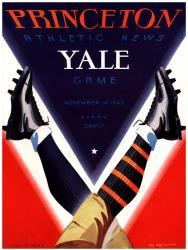 1942 Princeton Tigers vs Yale Bulldogs 22x30 Canvas Historic Football Program