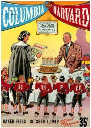 1949 Columbia Lions vs Harvard Crimson 22x30 Canvas Historic Football Poster
