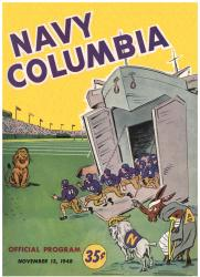 1948 Columbia Lions vs Navy Midshipmen 22x30 Canvas Historic Football Poster - Mounted Memories