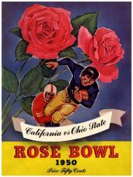 1950 Ohio State Buckeyes vs California Bears 22x30 Canvas Historic Football Print