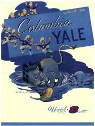 1950 Yale Bulldogs vs Columbia Lions 22x30 Canvas Historic Football Poster - Mounted Memories