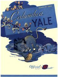 1950 Yale Bulldogs vs Columbia Lions 22x30 Canvas Historic Football Poster
