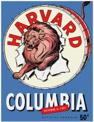 1951 Columbia Lions vs Harvard Crimson 22x30 Canvas Historic Football Poster - Mounted Memories