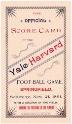1891 Yale Bulldogs vs Harvard Crimson 22x30 Canvas Historic Football Program