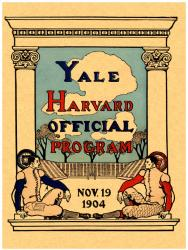 1904 Yale Bulldogs vs Harvard Crimson 22x30 Canvas Historic Football Program