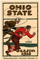 1918 Ohio State Buckeyes vs Case Western Reserve University Spartans 22x30 Canvas Historic Football Program