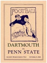 1920 Penn State Nittany Lions vs Dartmouth Big Green 22x30 Canvas Historic Football Poster