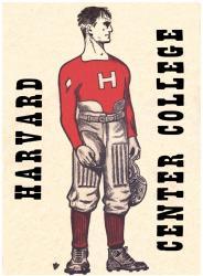 1921 Harvard Crimson vs Centre Colonels 22x30 Canvas Historic Football Program