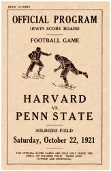 1921 Penn State Nittany Lions vs Harvard Crimson 22x30 Canvas Historic Football Poster