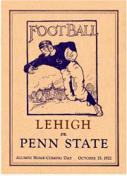 1921 Penn State Nittany Lions vs Lehigh Mountain-Hawks 22x30 Canvas Historic Football Poster