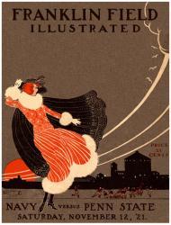 1921 Penn State Nittany Lions vs Navy Midshipmen 22x30 Canvas Historic Football Poster