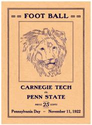 1922 Penn State Nittany Lions vs Carnegie Tech  22x30 Canvas Historic Football Poster