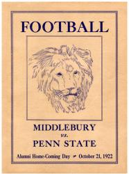 1922 Penn State Nittany Lions vs Middlebury 22x30 Canvas Historic Football Poster