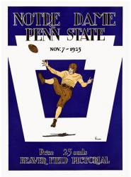 1925 Penn State Nittany Lions vs Notre Dame Fighting Irish 22x30 Canvas Historic Football Poster