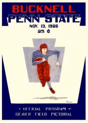1926 Penn State Nittany Lions 22x30 Canvas Historic Football Poster