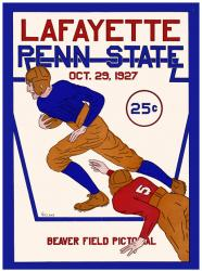 1927 Penn State Nittany Lions 22x30 Canvas Historic Football Poster