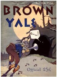 1944 Yale Bulldogs vs Brown Bears 22x30 Canvas Historic Football Program