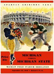1948 Michigan State Spartans vs Michigan Wolverines 22x30 Canvas Historic Football Program