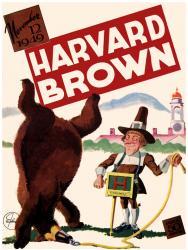1949 Harvard Crimson vs Brown Bears 22x30 Canvas Historic Football Program