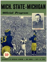 1949 Michigan Wolverines vs Michigan State Spartans 22x30 Canvas Historic Football Program