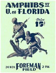 1954 Florida Gators 22x30 Canvas Historic Football Program