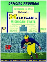 1954 Michigan Wolverines vs Michigan State Spartans 22x30 Canvas Historic Football Program