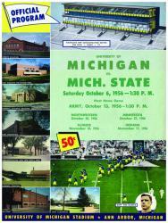 1956 Michigan Wolverines vs Michigan State Spartans 22x30 Canvas Historic Football Program