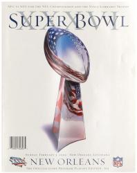 "2002 Patriots vs Rams 22"" x 30"" Canvas Super Bowl XXXVI Program"