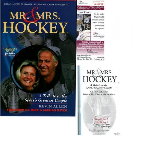 Gordie & Colleen Howe Autographed 'Mr. & Mrs. Hockey' Book