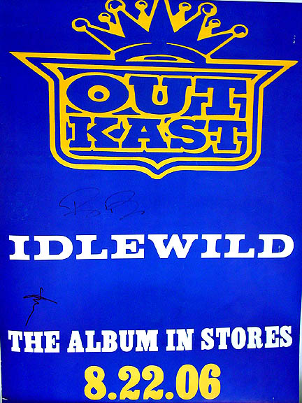 OUTKAST Autographed ANDRE & BIG BOI Signed RARE Poster