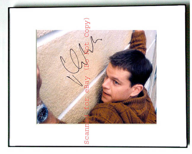 MATT DAMON Signed GOOD WILL HUNTING Autographed Photo
